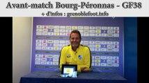 Avant match Bourg-Péronnas - GF38