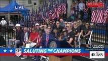 I couldn't be more proud Megan Rapinoe speaks as New York City honors Women's World Cup champions