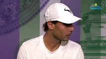 Wimbledon 2019 - Rafael Nadal  We know that we are not young with Federer and Djokovic