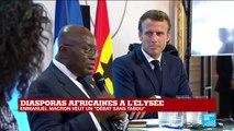 Le président Ghanéen Nana Akufo-Addo prend la parole lors du débat à l'Élysée sur les diasporas africaines