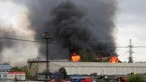 Incendie géant dans une centrale thermique près de Moscou
