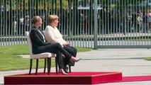 Nach Zitteranfällen: Merkel sitzt bei Staatsempfang