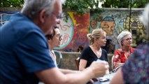 Emmanuelle Béart rencontre des réfugiés et Rosmerta