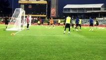 Pogba scores a lucky but very painful goal in Man Utd pre-season training