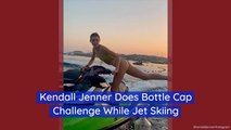 Kendall Jenner Tries The Bottle Cap Challenge