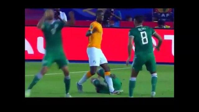 Algerian defender tried to get Zaha sent off!