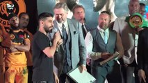 Khan and Dib make official weigh-in ahead of welterweight bout in Jeddah