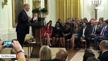 Watch: Trump Calls Diamond And Silk On Stage During Speech