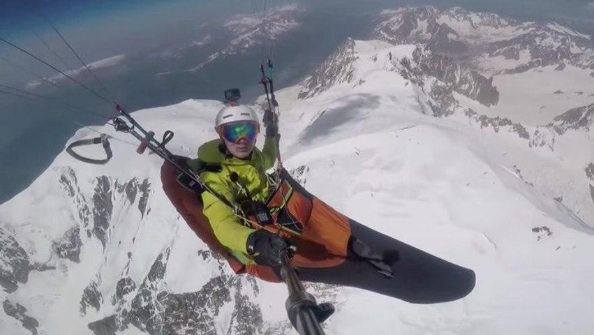 Landing On Top Of The Alp's Highest Mountain