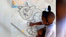 5-Year-Old Wows Family With Sonic the Hedgehog Drawing
