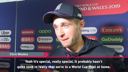 It hasn't sunk in that we're World Cup finalists - Woakes