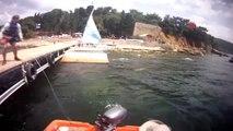 Marmara Denizi'nde ODTÜ'lü öğrencilerin yelkenlisi devrildi, o anlar kamerada