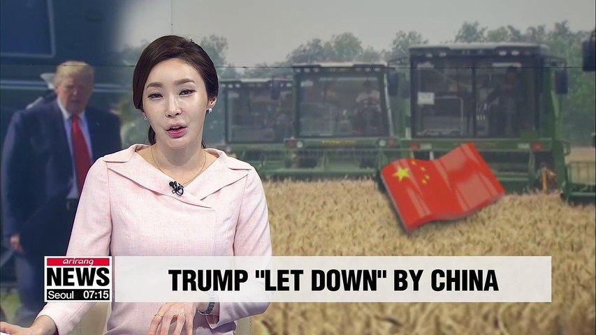 China letting U.S. down by not buying U.S. agricultural goods: Trump
