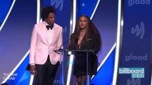 Beyoncé & Jay-Z Receive GLAAD Vanguard Award   Billboard News
