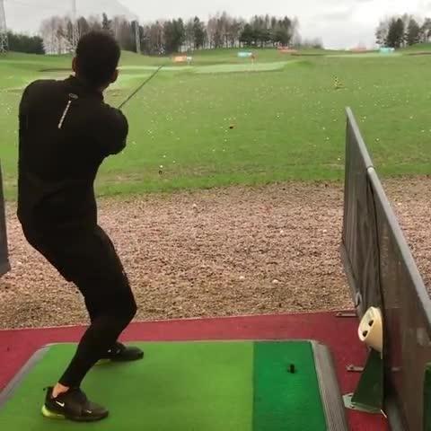 Guy Breaks Golf Club on Driving Range