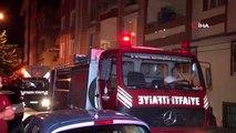 Beş katlı binanın bodrum katında çıkan yangın paniğe neden oldu