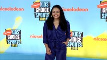 "Laurie Hernandez ""Kids' Choice Sports 2019"" Orange Carpet"