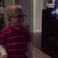 Toddler Sees Mom for the First Time