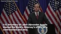 Alexander Acosta Tries To Take Away Blame For Jeffrey Epstein's 2008 Plea Deal