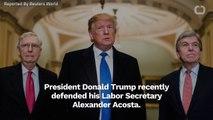 Donald Trump Defends Alexander Acosta Over Jeffrey Epstein Case