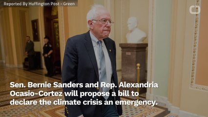Bernie Sanders And Alexandria Ocasio-Cortez Propose Bill To Declare Climate Emergency