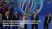 Rapinoe Cheered While Macron, FIFA Boss Jeered At World Cup Closing Ceremony