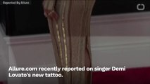 Demi Lovato Got the Word 'Me' Tattooed O