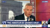 """François de Rugy assure qu'il n'est """"ni connaisseur, ni amateur"""" de grands crus"""
