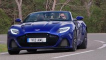 Aston Martin DBS Superleggera Volante in Zaffre Blue Driving Video