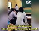 Khi giáo viên hỏi cháy nhà nên làm gì?