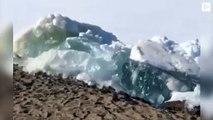 El tsunami de hielo que marca la llegada del verano en el extremo norte de Rusia