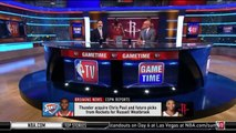 Kenny Smith react to Thunder trade Westbrook to Rockets for Chris Paul & future