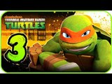 Nickelodeon Teenage Mutant Ninja Turtles Walkthrough Part 3 (X360, Wii) 100% - Level 4