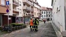 Incendie rue des Capucins à Molsheim
