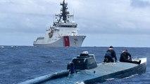 Video | ABD sahil güvenliğinden kokain yüklü denizaltıya su üstünde baskın