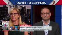 Kawhi Leonard picks Clippers after 'historic commitment' to acquire Paul George - Woj _ SportsCenter