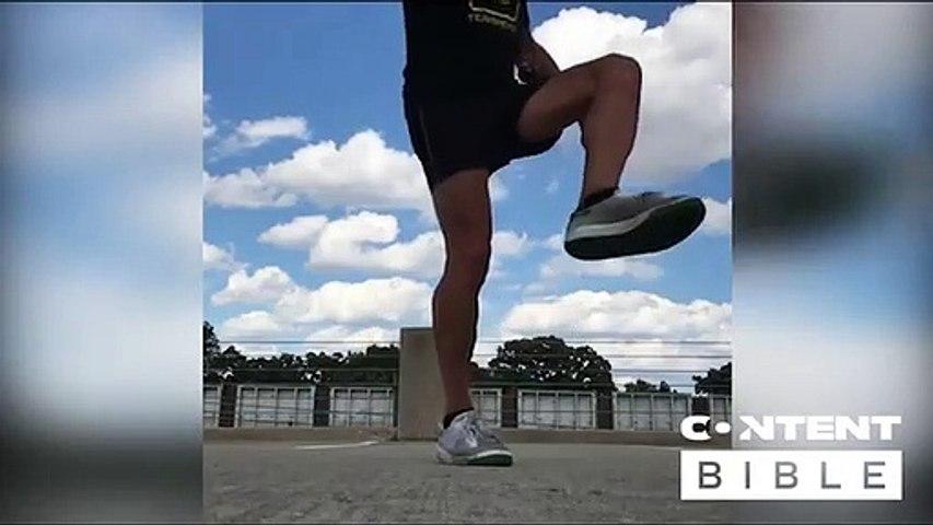 Freestyle footbag practice
