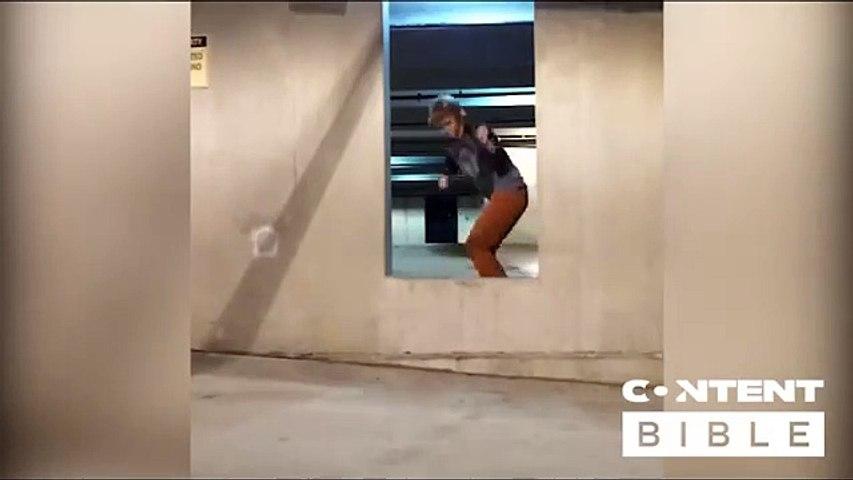 Skateboard skills, listen to that thud!!!