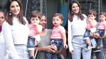 Sunny Leone enjoys quality time with her twins; Watch video | FilmiBeat