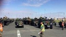 Répétition du défilé motorisé du 14 juillet 2019 sur la base aérienne de Brétigny-sur-Orge (Essonne), pris en charge par le commandement de la logistique installé à Lille