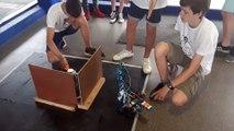 Test des robots des élèves du collège Jacques Monod de Laval avant la RoboRAVE International