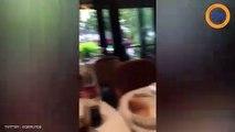 Elisa Tovati pète un plomb dans un restaurant