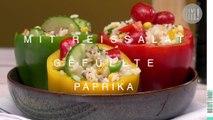 Mit Reissalat gefüllte Paprika