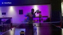 UK man nails his ping pong #BottleCapChallenge attempt