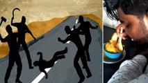 மாட்டுக்கறி  புகைப்படம் போட்ட இளைஞரை கத்தியால் குத்திய கும்பல்