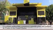 Tour de France : l'installation ce matin sur les quais de Saône