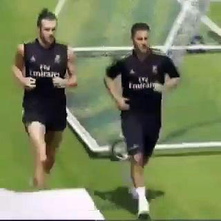 Le premier entraînement d'Hazard avec le Real Madrid