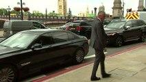 Boris Johnson arrives in Westminster for TV interview