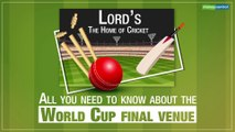 Lord's: All you need to know about the 2019 ICC Cricket World Cup final venue