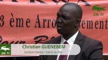 """""""François BOZIZE rentrera à Bangui dans les semaines à venir"""" - Christian GUENEBEM"""